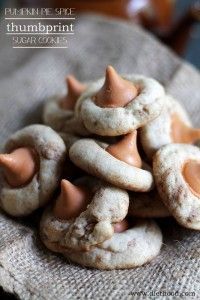 Pumpkin Pie Spice Thumbprint Sugar Cookies Recipe | Diethood