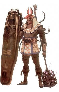 Anubis suit. Very interesting armor/weapon design.