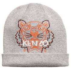 Kenzo - Grey Knitted Tiger Baby Hat |