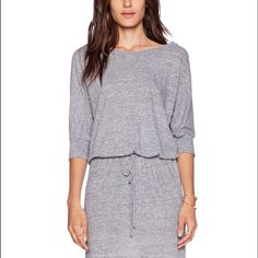 Lanston Boyfriend Dress XS Grey •50% poly , 38% rayon , 12% cotton •Unlined •Drawstring waist EUC Lanston  Dresses Mini