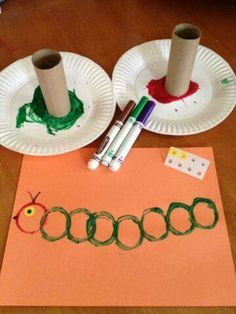 Toddlers and kids love these super easy Caterpillar Crafts! These kids crafts go great with The Very Hungry Caterpillar children's book. Toddlers and kids love these super easy Caterpillar Crafts! These kids crafts go great with Toddler Art, Toddler Learning, Preschool Activities, Nursery Class Activities, Circle Crafts Preschool, Childrens Crafts Preschool, Preschool Bug Theme, Letter C Activities, Spring Activities