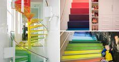7 escadas com degraus em arco-íris                                                                                                                                                                                 Mais