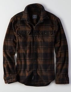 American Eagle Outfitters Men's & Women's Clothing, Shoes &-American Eagle Outfitters Men's & Women's Clothing, Shoes & Accessories AE Plaid Shirt Jacket - Lumberjack Style, Fashion Wear, Fashion Outfits, Casual Outfits, Men Casual, Flannel Outfits, Picnic Outfits, Mens Outfitters, Eagle Outfitters