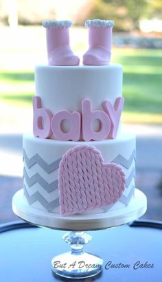 Winter baby shower - Cake by Elisabeth Palatiello