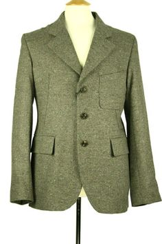 Nigel Cabourn Jacket Business jacket in wool and cashmere Army green