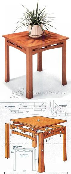 Edo Table Plans - Furniture Plans and Projects | WoodArchivist.com
