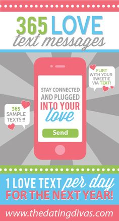 Awesome collection of flirty texts to romance your man! www.TheDatingDivas.com