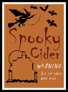 Kid-friendly Halloween drink labels. So cute and so easy to print on Avery 6470 full-sheet labels.
