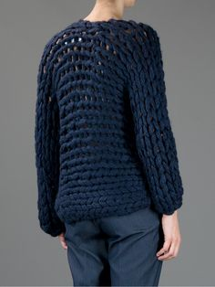 Sometimes only a cardigan will do. Shop designer knitwear for women at Farfetch and find Thom Browne, Prada and Burberry. Chunky Knit Cardigan, Pullover, Thom Browne, Her Style, Mantel, Hand Knitting, Knitwear, Men Sweater, Knits