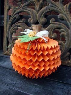 DIY rosette layered pumpkin