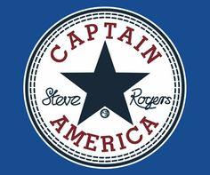 Captain America Steve Rogers All Stars T-Shirt $27.00 @ redbubble.com