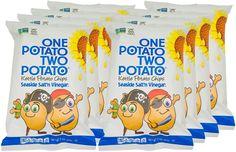 One Potato Two Potato, Salt n Vinegar Kettle Potato Chips, 2 oz (Pack of 8) >>> Trust me, this is great! : Fresh Groceries
