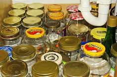 You might be a craft hoarder if You save every jar, can, lid, and bottle because you will need to craft with it someday!