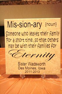 missionary Tile: live how they add the name an mission
