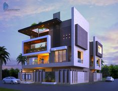 Night View House Design Modern House Design Bungalow with The Most Brilliant Bungalow Exterior Design Modern Bungalow Exterior, Modern House Facades, Dream House Exterior, Bungalow House Design, House Front Design, Modern House Design, Facade Design, Exterior Design, Architecture Design