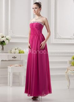 Elegant Fuchsia Chiffon Beading Strapless Womens Evening Dress. Elegant Fuchsia Chiffon Beading Strapless Womens Evening Dress. See More Strapless at http://www.ourgreatshop.com/Strapless-C967.aspx