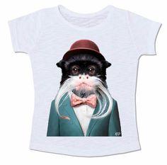 macacao sagui monkey terno chapéu bigode animal gravata borboleta
