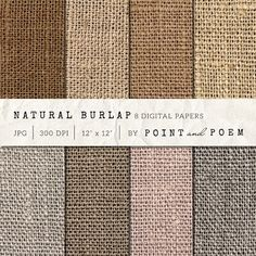 Burlap Textured Digital Paper by Point and Poem on Creative Market