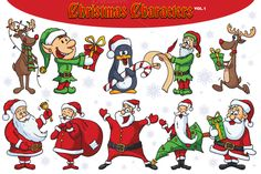 Check out Christmas Vector Characters Vol.1 by pixaroma on Creative Market