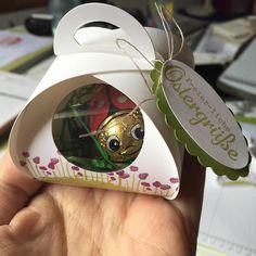 Eine kleine Kleinigkeit zu Ostern #Ostern #stampinup #marienkäfer #ilovemyjob #schoko Cookie Packaging, Stampinup, 3d Projects, Goodies, Paper Crafts, Instagram Posts, Cards, Keepsakes, Funny Things