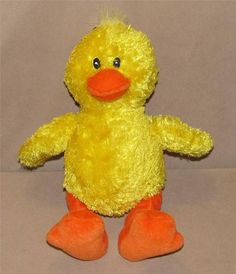 "10"" Gund Yellow Splish The Duck Plush Stuffed Animal Duckie 2173 Sewn Eyes Toy #GUND"