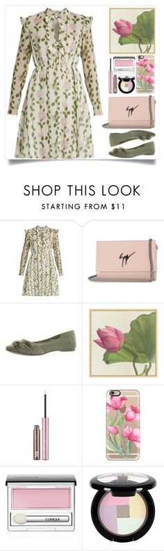 """#floral // Top Fashion Sets for Jan 23rd, 2017"" by itsybitsy62 ❤ liked on Polyvore featuring Giambattista Valli, Giuseppe Zanotti, Rocket Dog, Pottery Barn, Urban Decay, Casetify, Clinique and NYX"