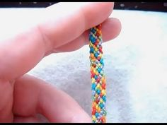 ► Friendship Bracelet Tutorial 4 - Beginner - The Rag Rug    (Easy Pattern)