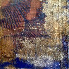 ZAFFIRI DELLO SRI LANKA                          Particolare di pittura multimaterica 190x30.