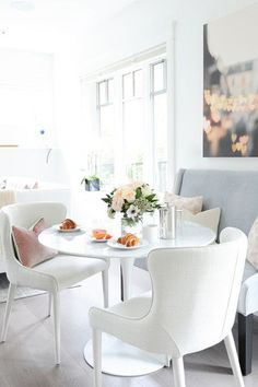 Fake A Nook - Ultimate Kitchen Luxury: Create The Living-Dining Table - Photos https://emfurn.com/collections/home-chairs