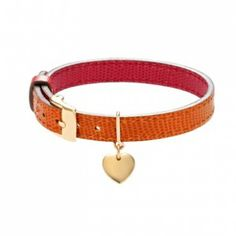 Give me your heart 41£ #leather #bracelet #lilou #heart #christmas #present #red #orange