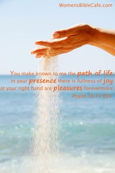 In His presence there is fullness of joy.