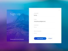 Sign Up by Konstantin Shcherbina