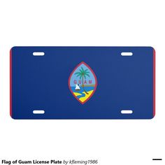 Flag of Guam License Plate