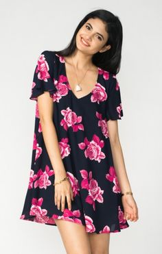 Kylie Mini Dress ~ Midnight Rose | Show Me Your MuMu