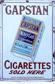 Vintage Tobacco/ Cigarette Ads (Page of Miscellaneous Years