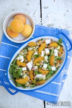#salade met #couscous, gerookte #kip en gegrilde #abrikozen #togo