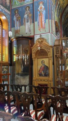 The wine jars from the wedding in Cana are preserved at St. George Greek Orthodox Church in Cana.