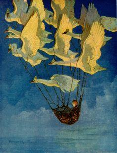 The Wild Swans -- Harry Rountree -- Fairytale Illustration