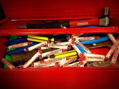 Finding Smarties Candy in a toolbox on Father's Day would be sweet!