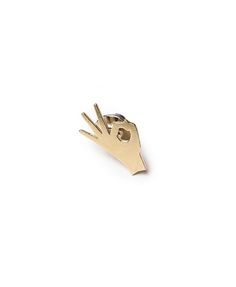 CASA MALASPINA | A-OK PIN | $55.00 | isn't everything great? shiny brass pin. hand polished. | 16x22mm