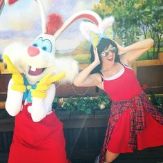 Hopping around with Roger Rabbit at Disneyland #disneyside #disneyland #rogerrabbit #disneybound #disneybounding #jennyrae