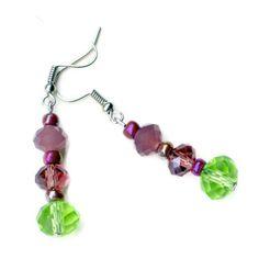 Sparkling Mauve Green Purple Victorian Dangle by ALFAdesigns, $9.99