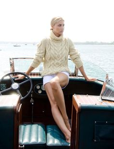 Nautical style cream and white. Perfect for New England summer nights!