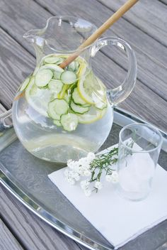 Cucumber Lemon Water - tried and true (even my 3 y/o likes it!)