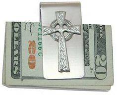 Money Clip with Celtic Cross