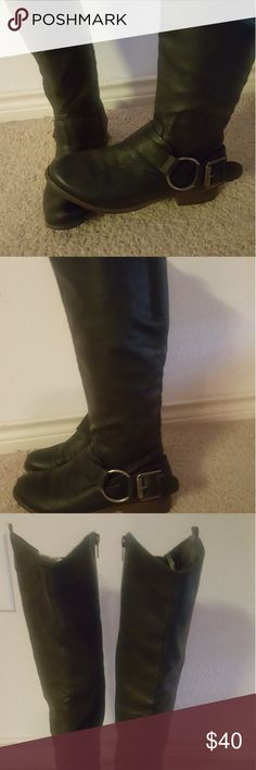 Knee High Riding Boots Only worn a handful of times. They run true to size. Got then from DSW. Just not my style. Shoes Combat & Moto Boots
