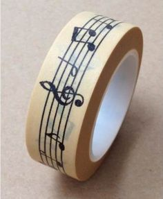 Music Note Washi Tape 15mm AT0325 by AllenTape on Etsy