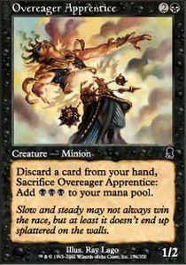 Magic: the Gathering - Overeager Apprentice - Odyssey - Foil Magic: the Gathering http://smile.amazon.com/dp/B005S5FY1W/ref=cm_sw_r_pi_dp_YSkXwb1CXR0A4