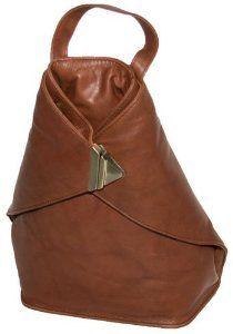 Visconti 18258/18259 Ladies Triangular Leather Backpack Rucksack Handbag for Women