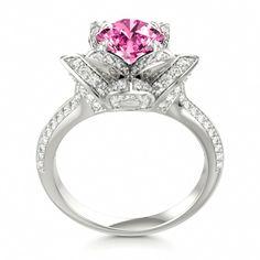 Pink Sapphire Lotus Ring #sapphire #engagement #ring
